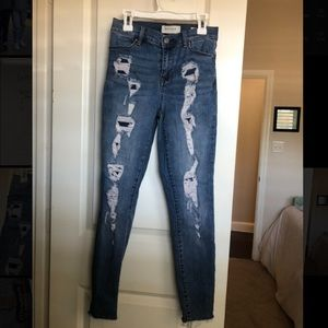 Pacsun high rise ankle jegging ripped jeans
